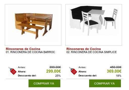 Comprar rinconeras de cocina y otros muebles y decoraci n online - Rinconeras de cocina ...