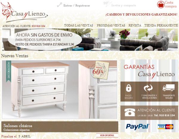 Casaylienzo.es tu portal de decoración con los mejores descuentos