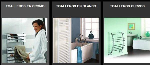Toalleros electricos, mamparas y complementos para el baño online