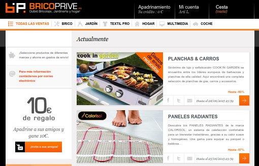 Bricoprive opiniones: ventas privadas, ofertas y gastos de envío