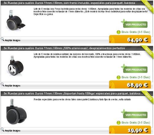Sillas de oficina baratas online y a domicilio for Sillas para oficina sin ruedas