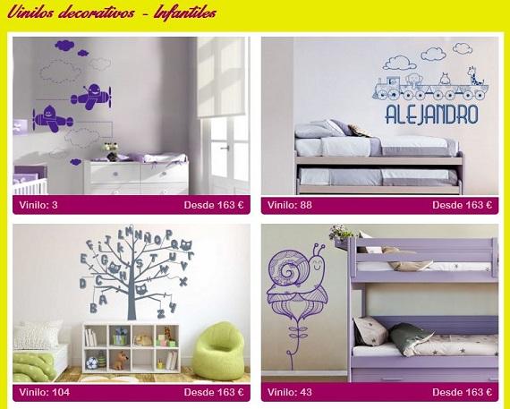 Vinilos decorativos de pared infantiles y a precios baratos for Vinilos para pared precios