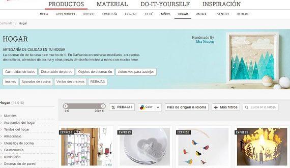 Dawanda: opiniones y comentarios de la tienda online de decoración