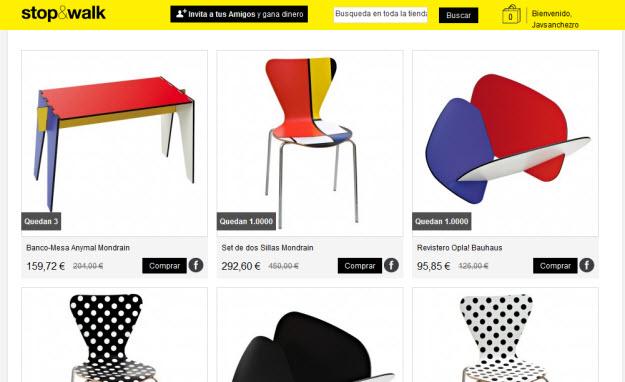 Ventas privadas de muebles online