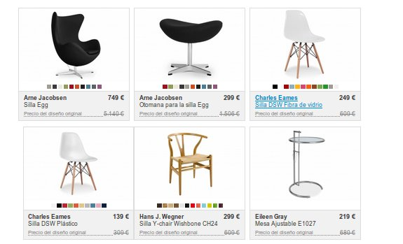 Grandes descuentos en muebles de diseño Infurn