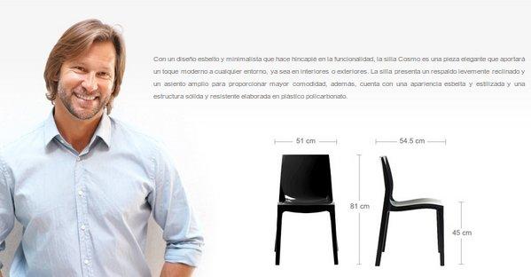 Las sillas de metacrilato son baratas y elegantes