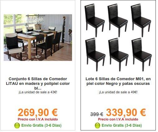 Homy sillas de comedor