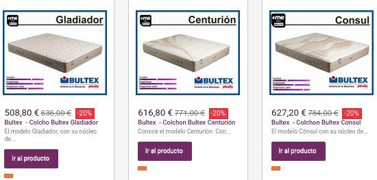 Colchones baratos Bultex