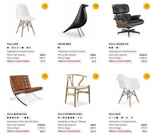 Voga muebles de diseño