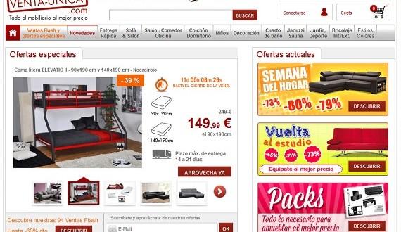 Ventas privadas de muebles : precios y ofertas
