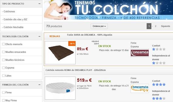 Colchones online a precios baratos viscoel sticos y de muelles - Colchones venta online ...
