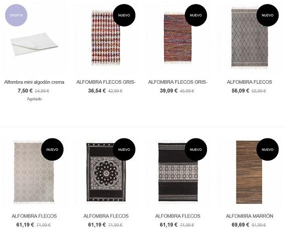 rebajas decoración alfombras