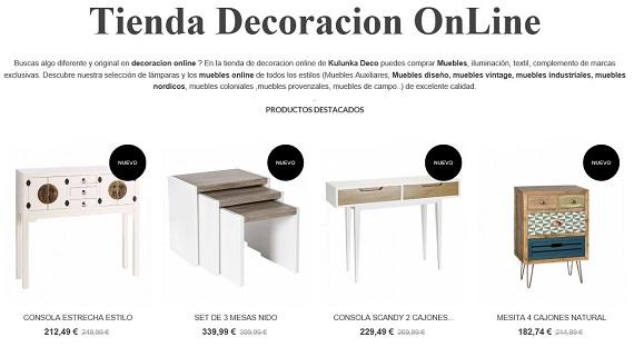 Muebles decoracion online cheap vitrina estilo librera for Muebles online rebajas