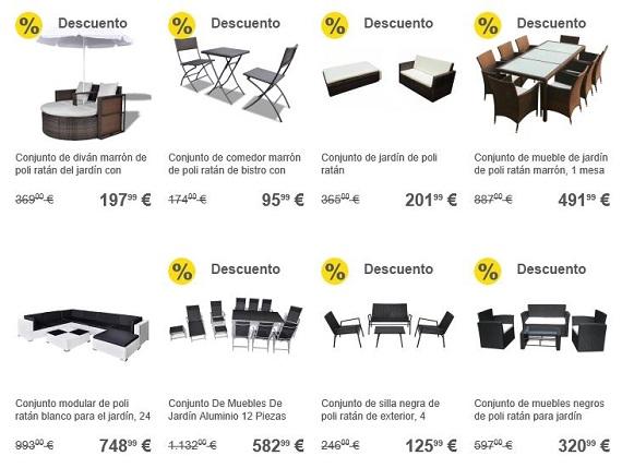 Muebles de jard n 2019 online a precios baratos y de dise o for Muebles jardin economicos