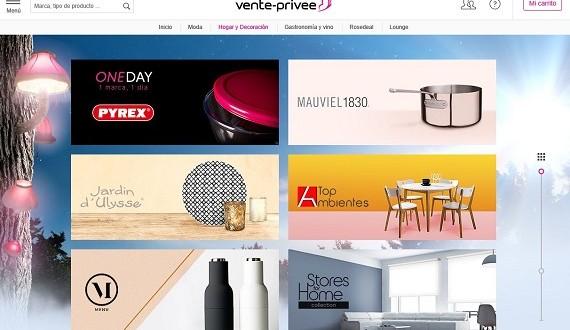 vente-privee: ventas privadas de muebles y decoración del hogar