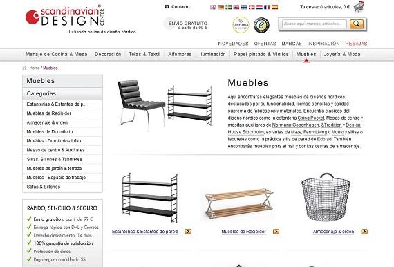 Muebles n rdicos online para el sal n precios baratos for Muebles baratos por internet