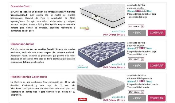 Colchones para ni os peque os al rgicos online a precios - Colchones pequenos ...
