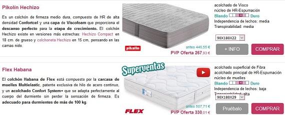 Colchones para ni os peque os al rgicos online a precios for Cama nido precios baratos