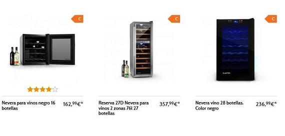 neveras-para-vinos-precios