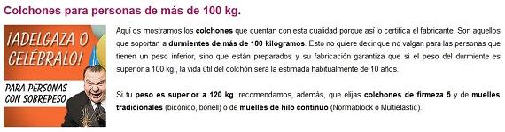 mejores colchones para obesos