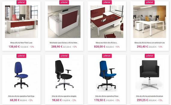 Outlet de muebles online great outlet online de muebles y for Muebles de oficina outlet