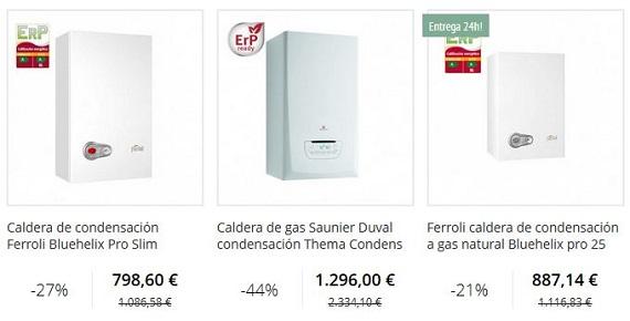 calderas de condensación gas natural