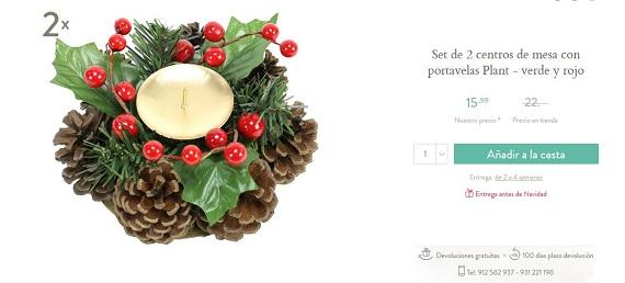 decoracion para navidad con piñas